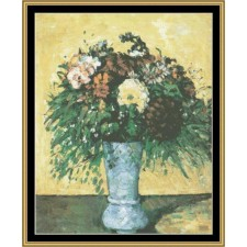Great Masters Still Life Series - Flowers In Blue Vase