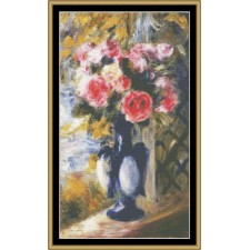 Great Masters Still Life Series - Roses In Blue Vase