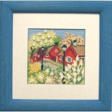 Huis in het voorjaar