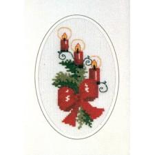 Kerstkaart kaarsen
