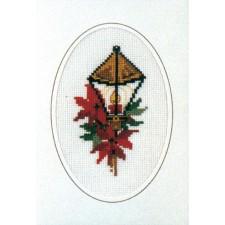 Kerstkaart lantaarn