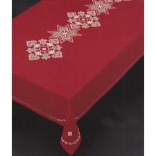 Hardanger kerstkleed rood
