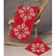 Hardanger kerstloper rood