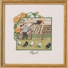 April: Bij de kippen