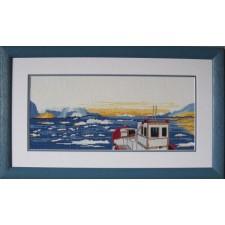 Boot op bergmeer