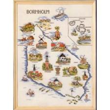 Landkaart Bornholm