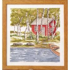 Huis tussen bomen