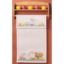 Overhanddoek servies en citroenen