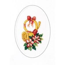 Kerstkaart kersthoorn