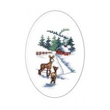 Kerstkaart hertjes