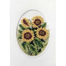 Kaart met zonnebloemen