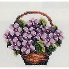 Mand paarse bloemetjes