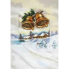 Borduurkaart Kerstklokken