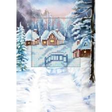 Borduurkaart Kersthuisjes