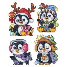 Setje Kerstornamenten Pinguins- Christmas Penguins