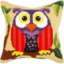 Borduurkussen Uil - Owl