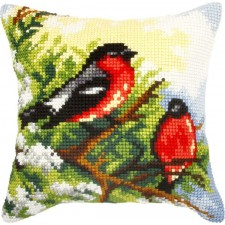 Borduurkussen Vogels - Birds