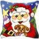 Borduurkussen Kerstman - Santa