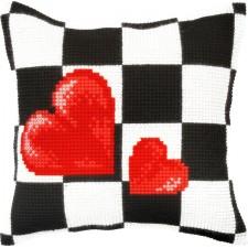 Borduurkussen Harten - Hearts