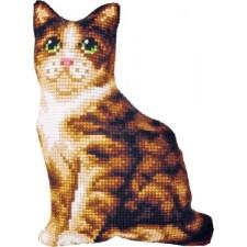 Borduurkussen Kat