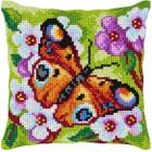 Borduurkussen Vlinder