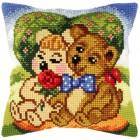 Borduurkussen Teddyberen