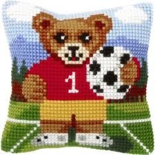 Borduurkussen Voetbalbeer - Bear