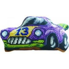 Borduurkussen Raceauto 13