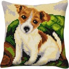 Borduurkussen Hond