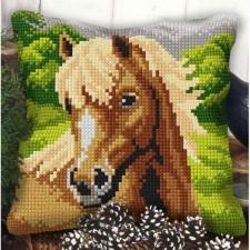 Borduurkussen Paard