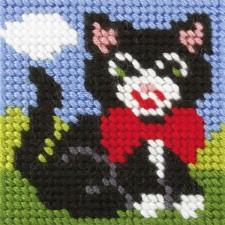 Borduurstramientje Poes - Cat