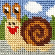 Borduurstramientje Slak - Snail