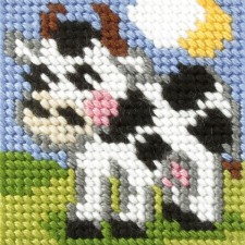 Borduurstramientje Koe - Cow