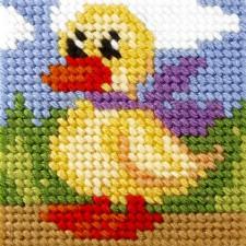 Borduurstramientje Eend - Duck