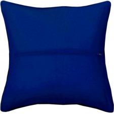 Cushion back with zipper dark blue