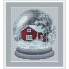 Houten huisje in de sneeuw - Winter Paradise