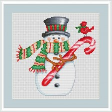Sneeuwpop met snoep - Candy Cane Snowman