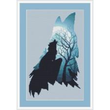 Maanverlichte huilende wolf - Moonlit Howl
