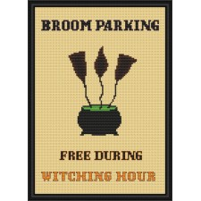 Bezem parkeerbord - Broom Parking Sign