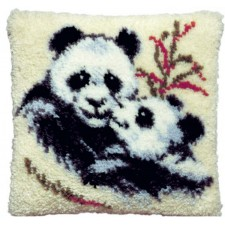 Knoopkussen panda beertjes