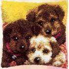 Knoopkussen 3 hondjes