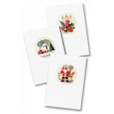 Drie kerstkaarten 3 witte passepartouts