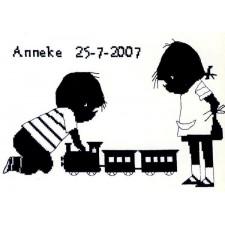 Jip en Janneke geboortetegel Anneke: treintje