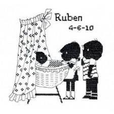 Jip en Janneke geboortetegel Ruben: wieg