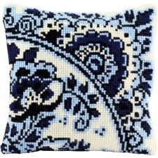 Borduurkussen Delfts blauw