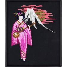 Geisha bij vulkaan