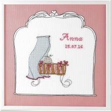 Geboortetegel wieg: Anna