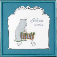 Geboortetegel wieg: Johan