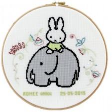 Geboortetegel Nijntje en olifant: Edmee Anna
