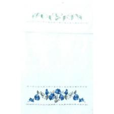 (OP=OP) Overhanddoek blauwe bloemen